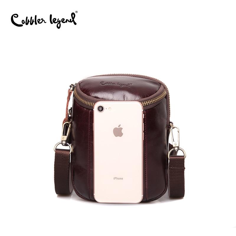 Cobbler Legend Men Vintage Genuine Leather Shoulder Bag Retro Men Crossbody Bag Fashion Messenger Bags Brand Designers Handbags