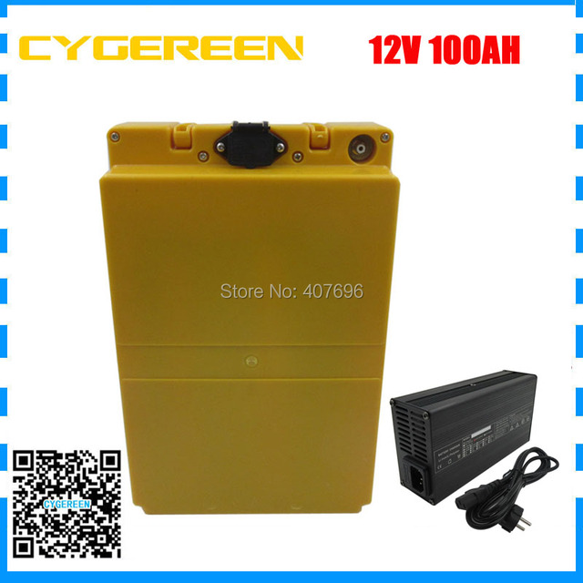 350W lithium ion 12v 100ah electric bike battery 12V 3S 26650 5000MAH cell with 30A BMS 12.6V 5A Charger Free taxes