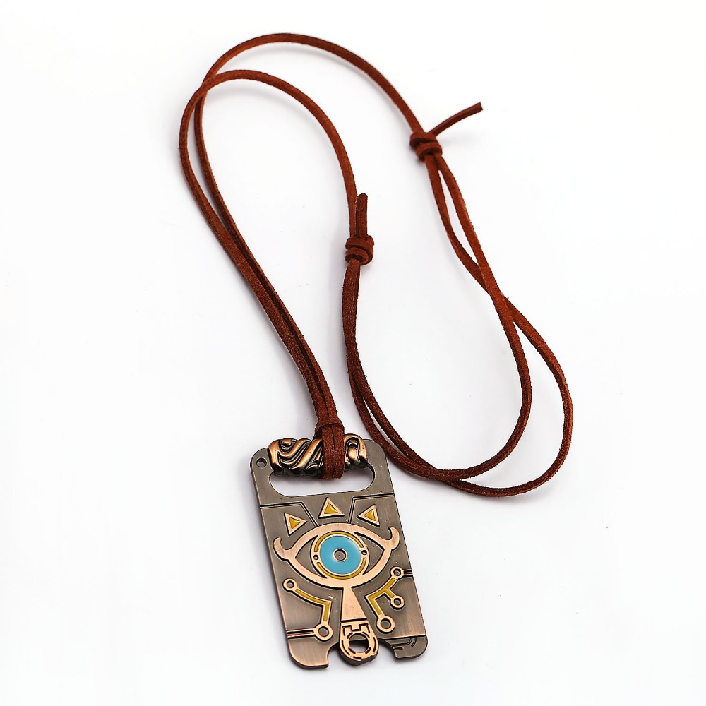 HSIC Brand The Legend of Zelda Breath of the Wild Necklace Anime Game Chocker Big Eyes Vintage Metal Pendant Charms Gifts HC1232