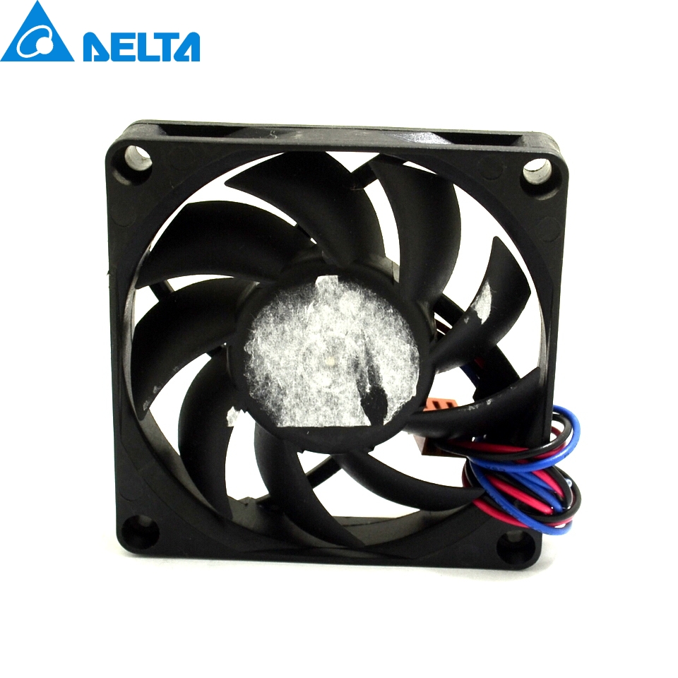 1pcs New Afb0712hhb 12v 7cm 7015 045a 3 Wire Dual Ball Bearing Fan Speed Wiring Reference 5000 10 Rpm Type Life 50000 Hours Noise 35 Db Rated Voltage