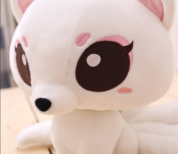 lovely Stuffed Plush Toy Doll Baby Appease Pillow Toy Nine-Tailed Fox Deisgn For Children Christmas Gift Baiqian Shape 17cm Z819 image