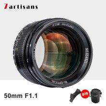 7 artesãos 50mm f1.1 grande abertura paraxial lente de foco fixo para leica m-montagem câmeras M-M m240 m3 m6 m7 m8 m9 m10