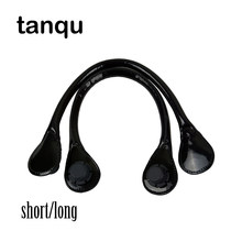 tanqu Short Long Lacquer Round PU Leather Adjustable Drop Shape End Handle for Obag Pocket Moon Swing Handbag(China)