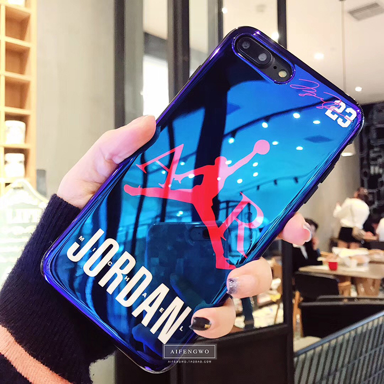 706ddc889379b1 NBA Air Jordan 23 Phone Cover Iphone X XS MAX XR 10 7 8 6 6S Plus Luxury Blue  Light Soft ...