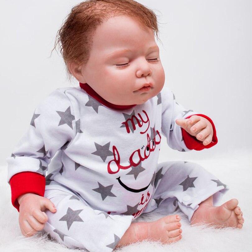 50 cm Coton Corps Silicone Reborn Garçon Bébés Réaliste Poupée Enfants Cadeau De Noël Fille Brinquedos Bebe Reborn Jouet Poupée Pour filles