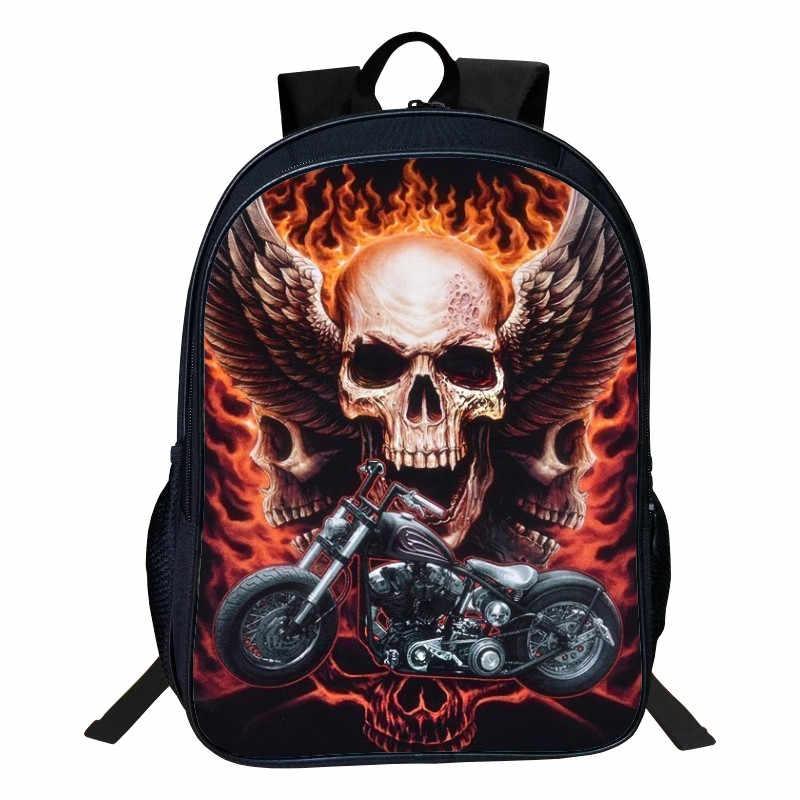Лидер продаж, Оксфорд, 16 дюймов, с принтом, европейский стиль, череп, Детский Школьный Рюкзак Для тенжеров, школьные сумки для девочек, для детей, мальчиков