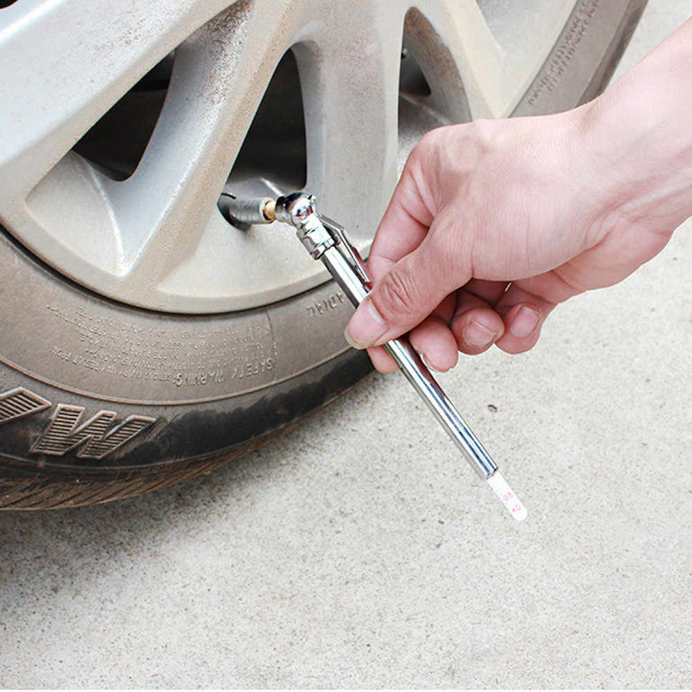 Pencil Pen Style Truck Auto Vehicle Car Tire Pressure Gauge 10-100 PSI Air Meter Top quality tire pressure 14*2*0.8cm #30