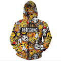 Newest Fashion Men's cute cartoon glo gang 3D Hoodies Zipper Outerwear S M L XL XXL 3XL 4XL 5XL