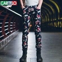 CARTELO MEN NEW Thin men's casual pants Korean men's trousers straight stretch men's long jeans cotton trousers