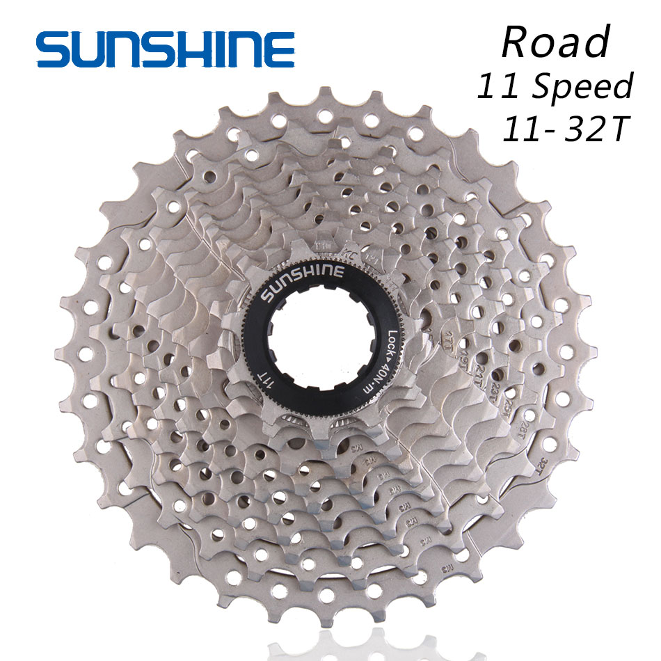 SUNSHINE 11S 11-32T Free Wheels Road Bicycle Flywheel Steel 11 Speed <font><b>Cassette</b></font> Sprocket 11-32T Compatible for Parts R9100 <font><b>R8000</b></font> image