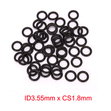 ID3.55mm x CS1.8mm black nitrile NBR rubber o-ring oring o ring sealing