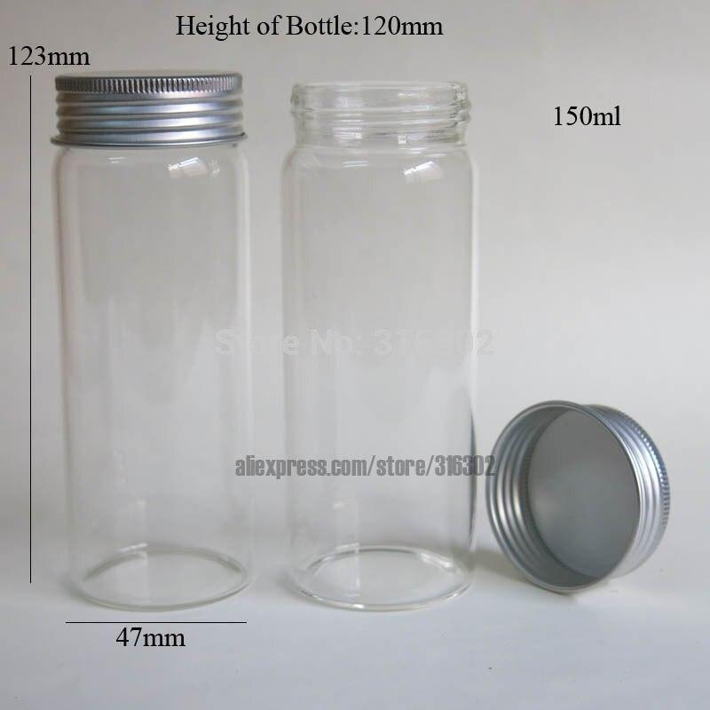 3x150 ml grande 150cc gran botella de cristal frasco de vidrio de alta boro silicato de
