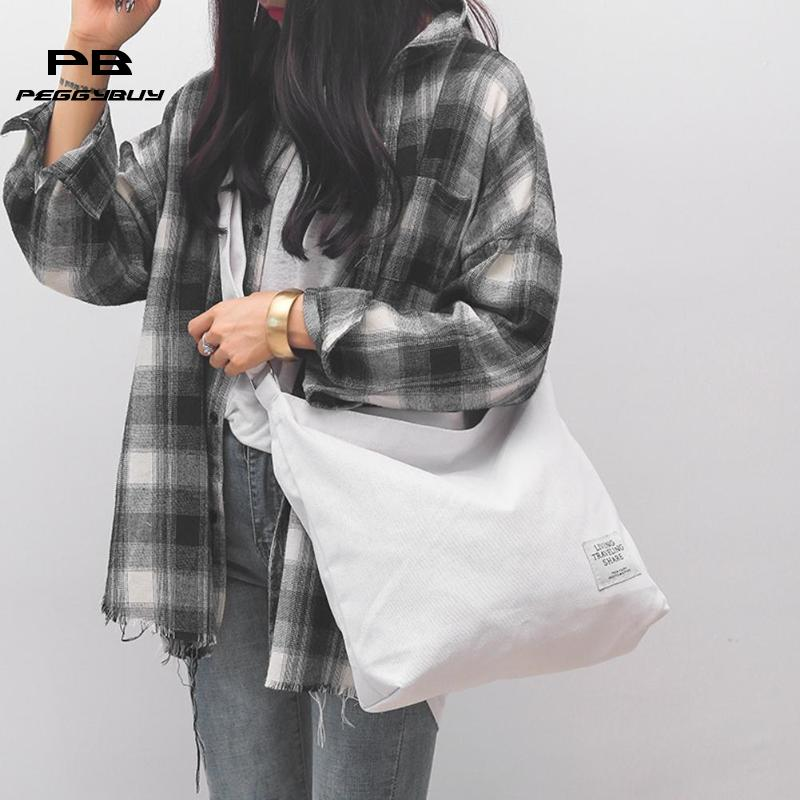 0c18803ee Canvas Crossbody Bags Large Shoulder Bags Girls Simple Totes Messenger  Handbags Clutch Bag
