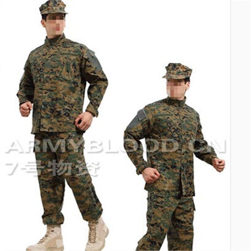 Us Army Military Uniform For Men US DIGITAL WOODLAND Digital Jungle Training Uniform Jacket + Pants Army Uniform