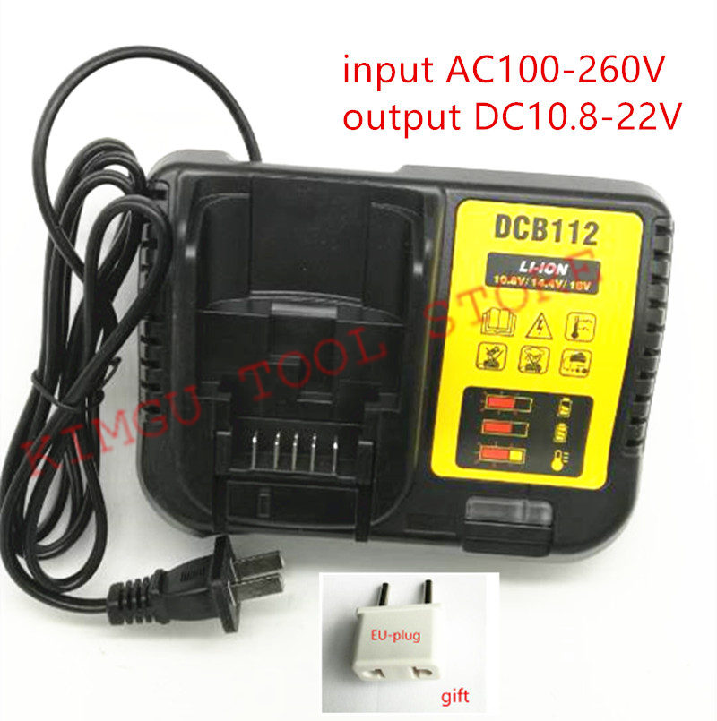 AC100-240V Charger DCB112 Replace for Dewalt DCB107 DCD710S2 DCD700 DCD734 DCD776 DCF805 DCD701 ChargerAC100-240V Charger DCB112 Replace for Dewalt DCB107 DCD710S2 DCD700 DCD734 DCD776 DCF805 DCD701 Charger