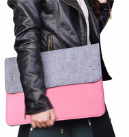 Unisex For Macbook Air Pro Retina 11 12 Laptop Bag Case Slim Soft Wool Felt Universal