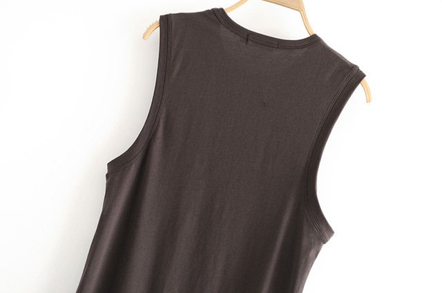 Women's Organic Cotton O-Neck Sleeveless Vest Top