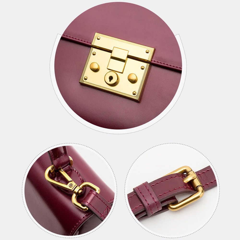 Женская винтажная сумка BISON DENIM, красная модная роскошная дамская сумочка из натуральной кожи