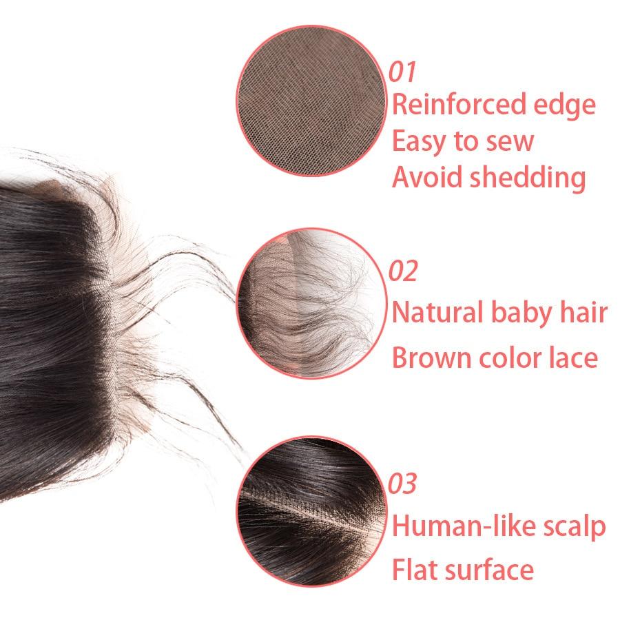 Beyo 4 x 4 Մարդու մազերի ուղիղ փակումը Beyo 4 - Մարդու մազերը (սև) - Լուսանկար 4