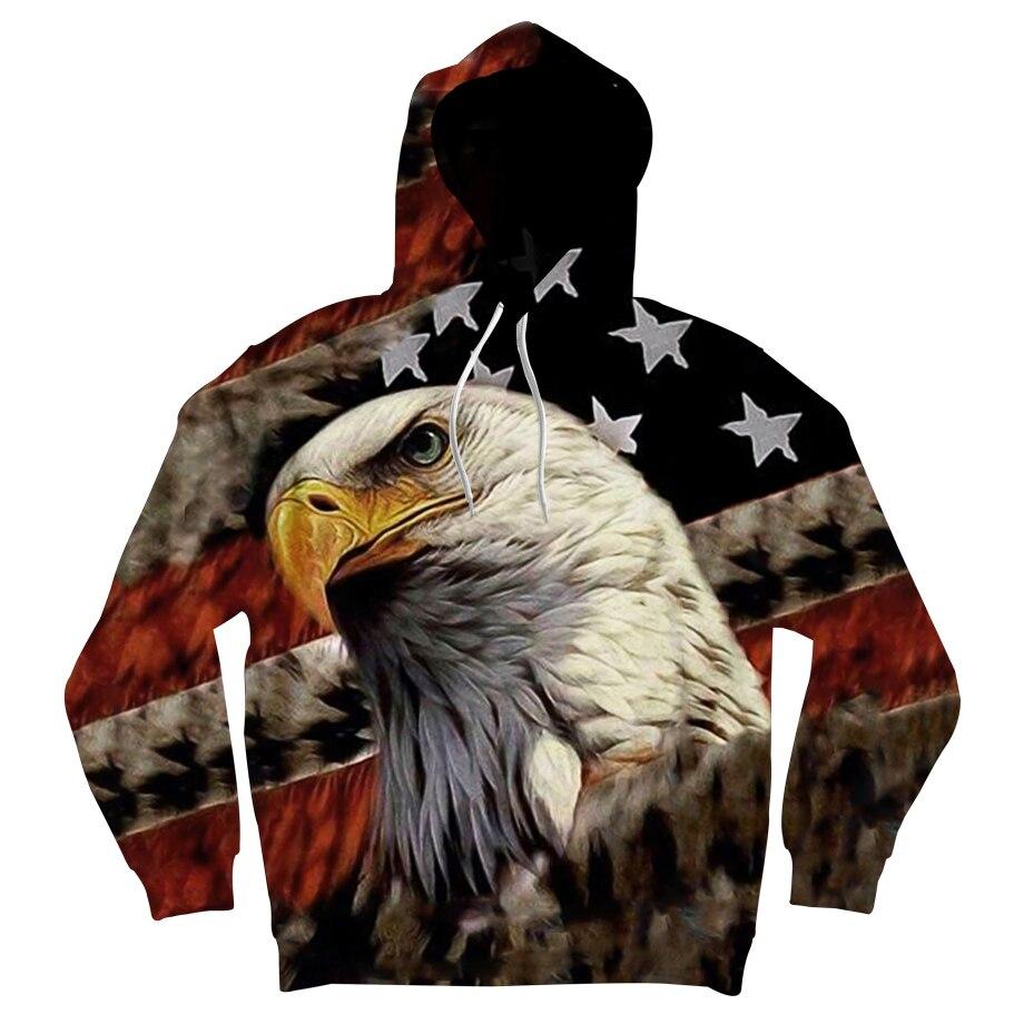 ONSEME Vintage EE. UU. Bandera águila 3D sudaderas con capucha sudaderas hombres/Las Mujeres estampado Animal jerseys con capucha Sudadera con capucha de manga larga