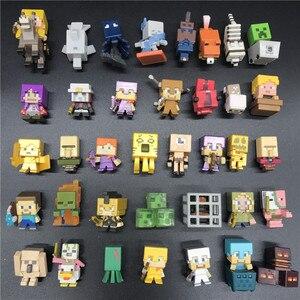 AOSST Minecraft Building Blocks Action mini Figure Choose Your Favourit Steve Classic Collection game model Toys Kids hot Sale