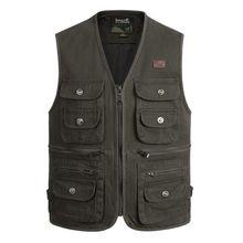 New Summer men Outdoors Travels Vests Mesh men Vest  Photographer Vest Shooting Vest with Many Pocket Wholesale size S-4XL later travels s