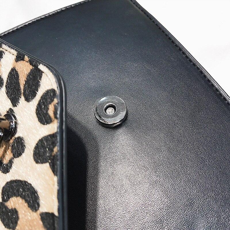 Donne Velluto Gouster Sacchetto A Delle Crossbody khaki Leopardo Femminile Autunno Flap Elaborazione Patchwork red Pannelli Messaggero brown Dell'unità Leopard Black Leopard Di Catena Nappa Del Borsa 2018 Tracolla rIwwtqRxz
