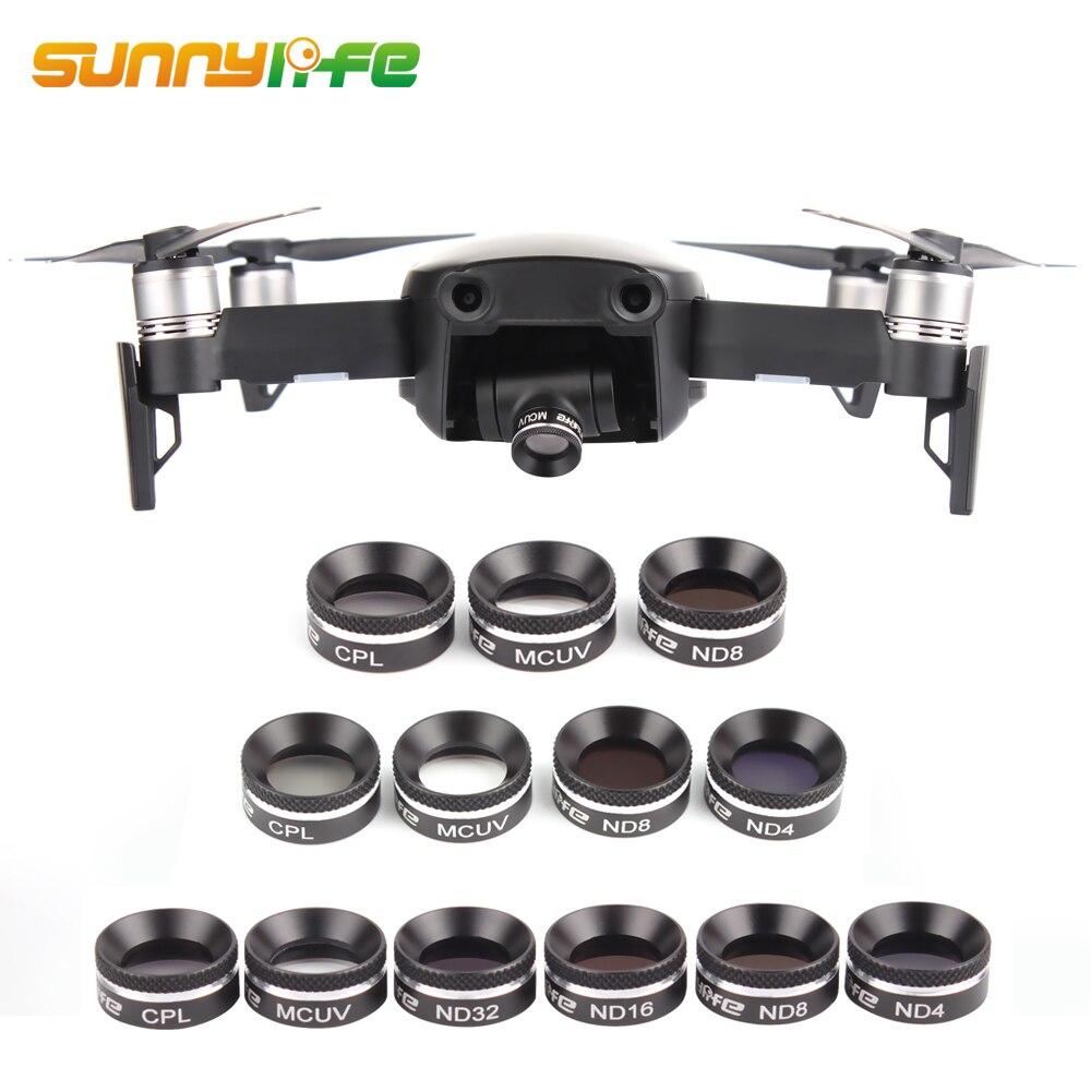Sunnylife DJI Mavic Air Len Filtres UV CPL ND 4 8 16 32 Caméra Filtre pour Mavic Air Drone Accessoires Neutre Filtre avec Couvercle