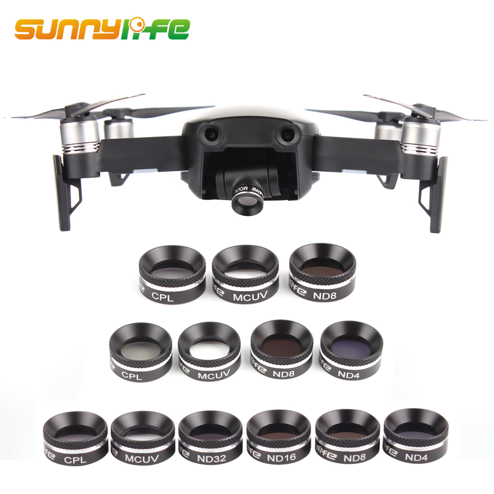 Sunnylife DJI Mavic Air Len Filters UV CPL ND 4 8 16 32 Camera Filter for Mavic Air Drone Accessories Neutral Filter with Cover