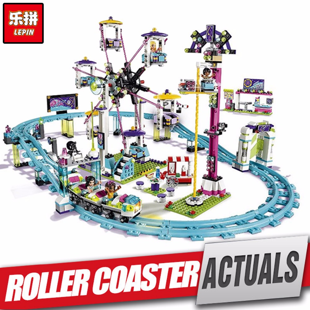 LEPIN 01008 Amusement Park Coaster Educational Building Kits Girl Blocks Bricks legoing Toy Compatible for girl kids' Gift 4113 2016 new lepin 01008 1124pcs amusement park coaster building kits girl friend blocks bricks toys compatible gift 4113
