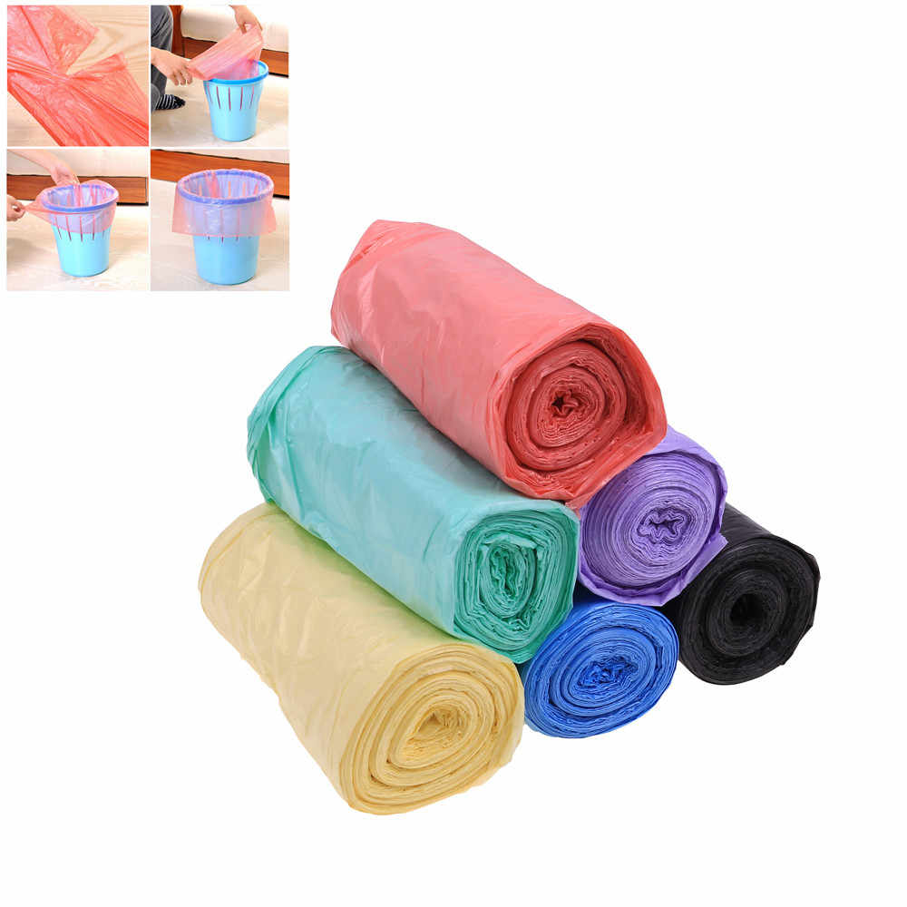 1 Rolls Garbage Bags Single Color Thick Convenient Environmental Cleaning Waste Bag Plastic Trash Bags Small Garbage Bag Trash