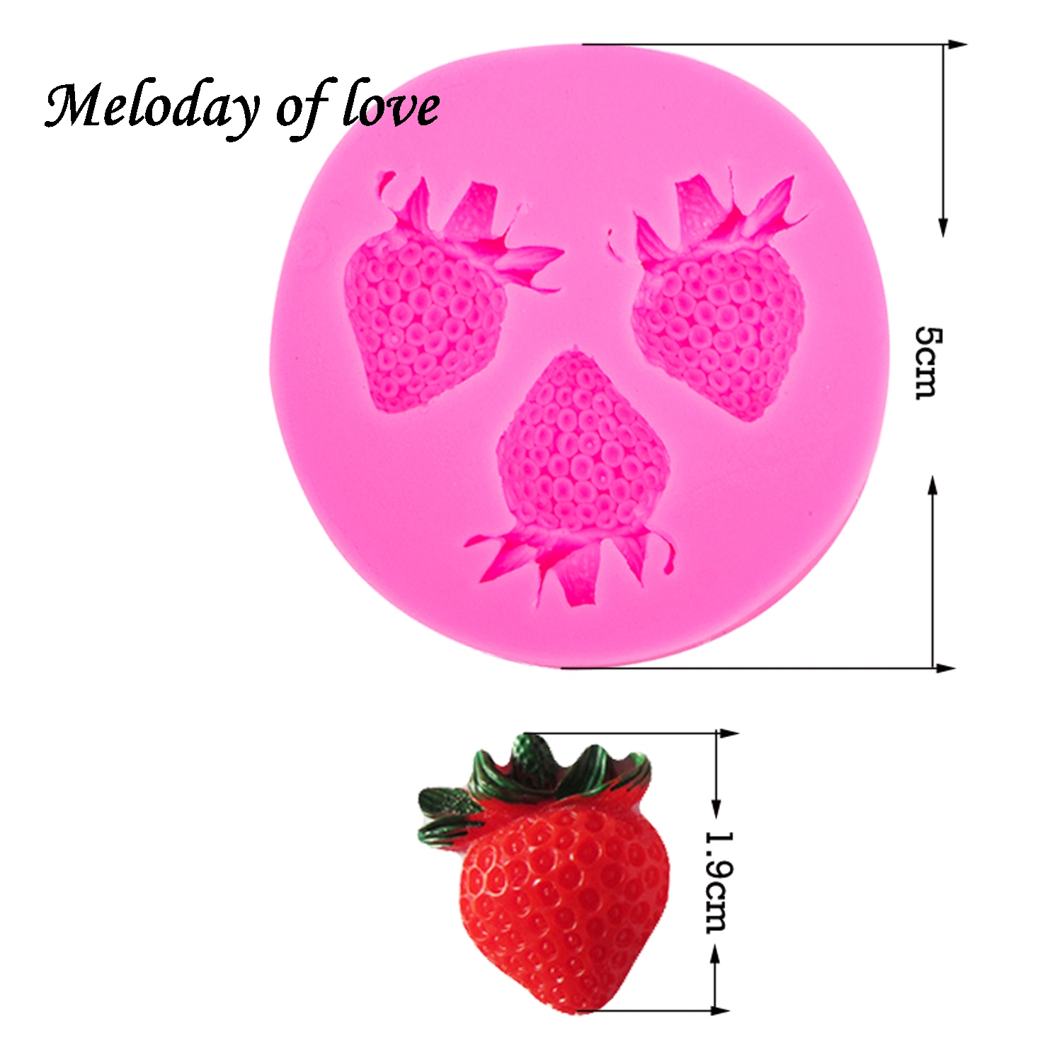 3D Strawberry silicone mold soap sugar fondant molds fruit chocolate moulds for cakes decorating tools silikon form T0107 in Cake Molds from Home Garden