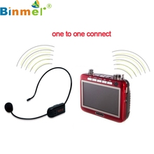Factory price  Radio FM Wireless Headset Microphone Handsfree Megaphone Mic for Speaker  160826 Drop Shipping Drop Shipping