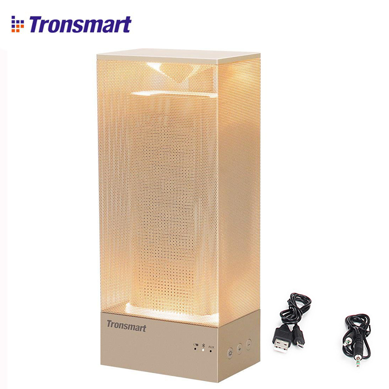 Tronsmart Beam <font><b>Bluetooth</b></font> Speaker Wirless <font><b>Amplifier</b></font> Soundbar Solid Mesh Speaker with Deep LED Bass Mood Light 18 hours Speaker