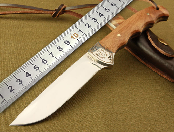 1BN High-quality wooden small hunting knife Browning Browning shadow tactical knife outdoor hunting camping knife tool gift