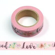 1PC Good Love Smile HelloFloral Cute Paper Masking Washi Tape Set Japanese Stationery Scrapbooking Supplies