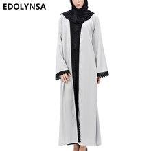 Дубай Абаи мусульманское платье плюс Размеры кафтан Абаи Платья брендовая мягкая мусульманское платье халат Вязание одноцветное Дубай Абаи Платья # D222