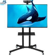 Mobil TV Sepeti Evrensel TV askısı için 32 60 inç LCD LED Plazma TV askısı Zemin Standı Arabaları/ arabası DVD Tutucu