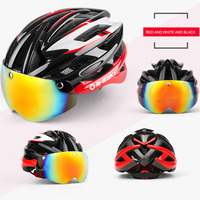 INBIKE Cycling Helmet Bicycle Helmet With Cycling Glasses Integrally Molded Road Outdoot Sports Safety Ultralight Bicycle