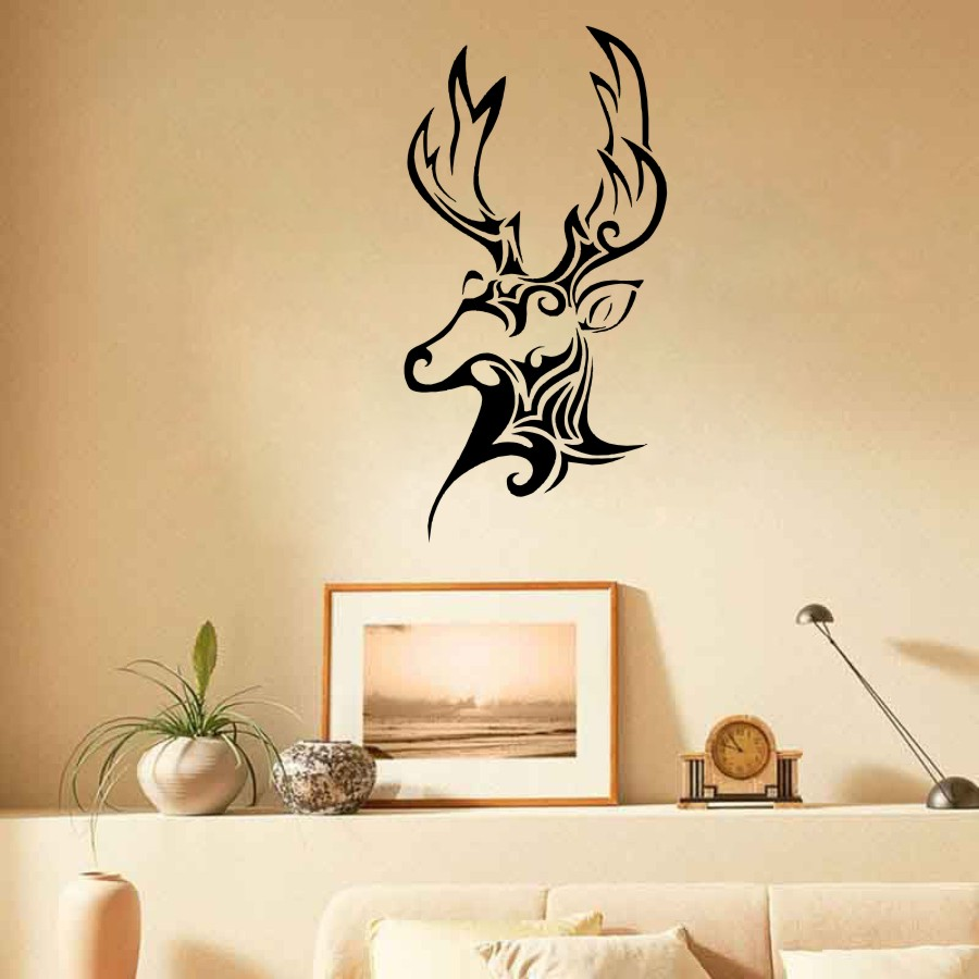 Wall Sticker Vinyl Decal Deer Hunting Trophy Animal Head Patterns ...