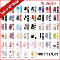 Hot 45 Designs Suave Prego Remendo, 100 folhas/lote Adesivo Cobertura Completa Da Arte Do Prego Etiqueta Da Beleza do prego Foils Wraps decalques DIY Decoração de Unhas