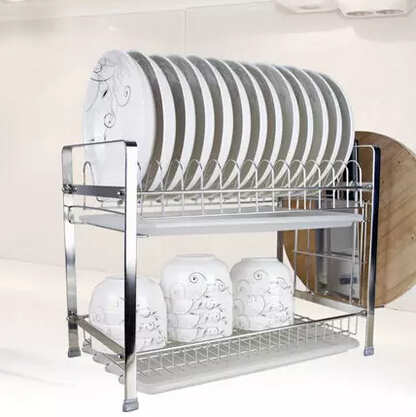 Stainless steel double layer combination type plate holder bowl rack kitchen dish rack-in Storage Holders u0026 Racks from Home u0026 Garden on Aliexpress.com ...  sc 1 st  AliExpress.com & Stainless steel double layer combination type plate holder bowl rack ...