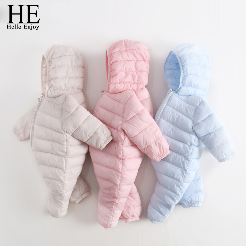 HE Hello Enjoy baby boy winter romper newborn jumpsuit 2017 toddler girl clothes long sleeve thicker overalls baby girl costume baby girl clothes romper hello kitty jumpsuit kids clothes newborn conjoined creeper gentleman baby costume dress 3pcs new 2016