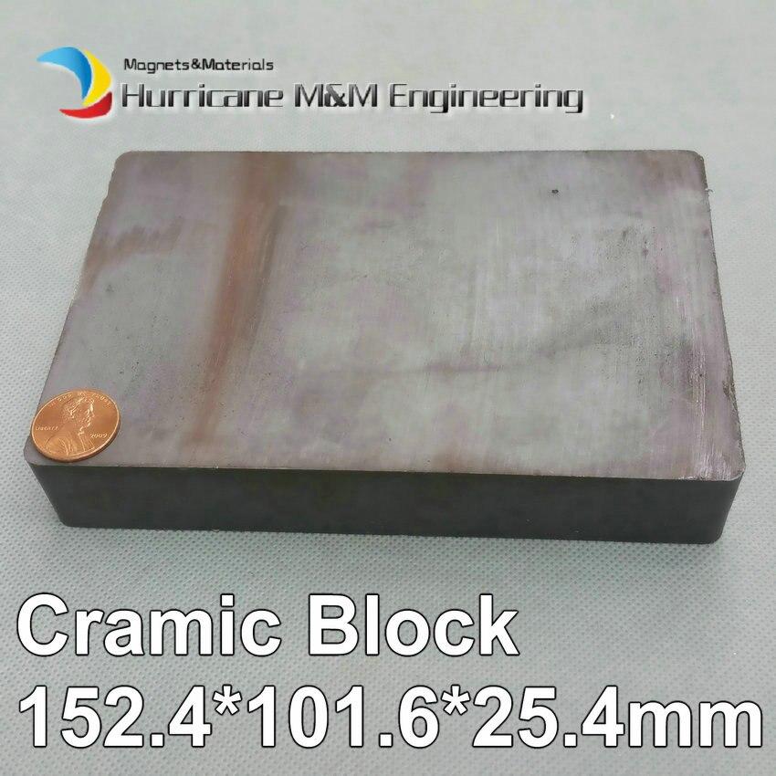3 pcs Ceramic Block 152.4x101.6x25.4mm Strong Barium Ferrite Permanent Magnets Large Size Rectangular Magnet 12 x 1 5mm ferrite magnet discs black 20 pcs
