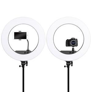 Image 3 - Fosoto 18 polegada iluminação fotográfica 100w led anel de luz de vídeo lâmpada com espelho ringlight para câmera do telefone youtube maquiagem