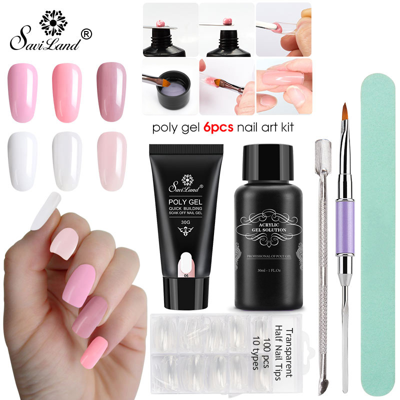 Artificial Nail Tips Health & Beauty Enthusiastic 500pcs Acrylic Pointed Stiletto Nail Tips Natural White Clear Uv Gel Choice Materials