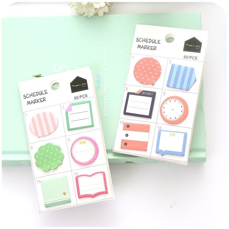 24 pcs/lot Cute Kawaii N Times Mini Post It Memo Pads Cute Cartoon Notepad Sticker Office School Supplies Stationery Gift 01906 200 sheets 2 boxes 2 sets vintage kraft paper cards notes filofax memo pads office supplies school office stationery papelaria