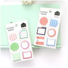 24 pcs/lot Cute Kawaii N Times Mini post Memo Pads Cute Cartoon Notepad Sticker Office School Supplies Stationery Gift 01906