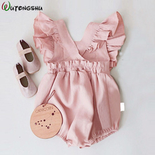 Baby Girls Ruffles Rompers Jumpsuits