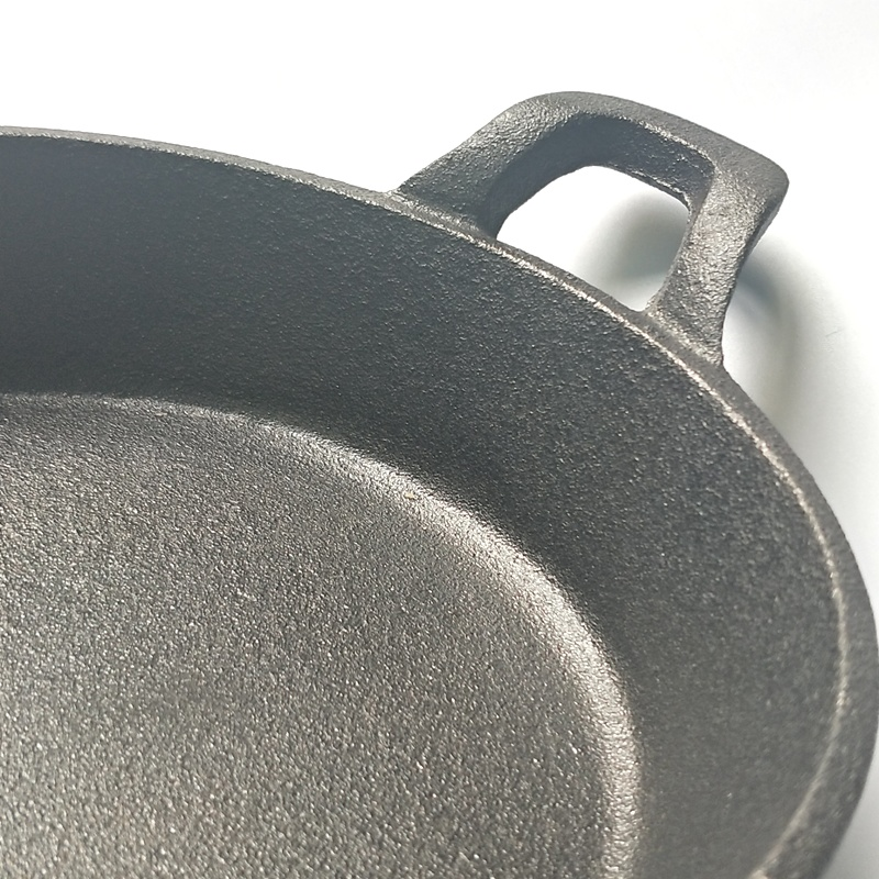 Cast Iron Non-Stick Double Handle Frying Pan 3